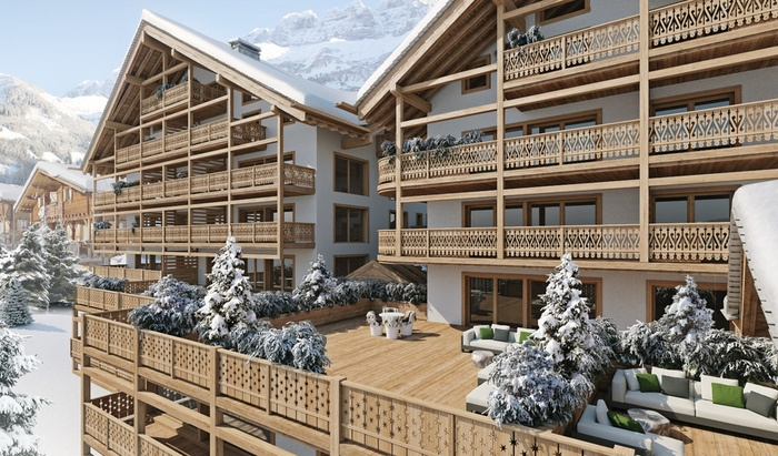 For sale, two-level apartment, rooms: 6, residence «Le Montagnier», Champéry - 1
