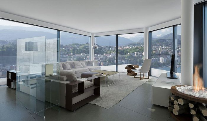 Apartments and penthouses for sale in a new residence in Paradiso, Lugano - 7