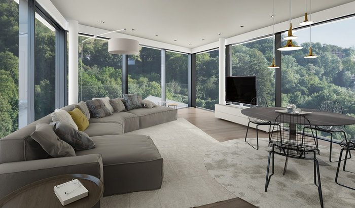 Apartments and penthouses for sale in a new residence in Paradiso, Lugano - 8