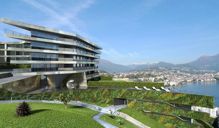 Apartments and penthouses for sale in a new residence in Paradiso, Lugano - 0