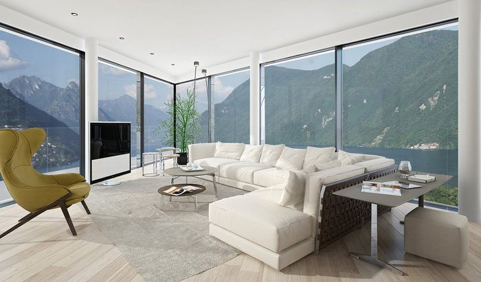 Apartments and penthouses for sale in a new residence in Paradiso, Lugano - 5