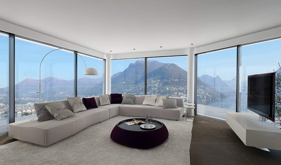 Apartments and penthouses for sale in a new residence in Paradiso, Lugano - 1