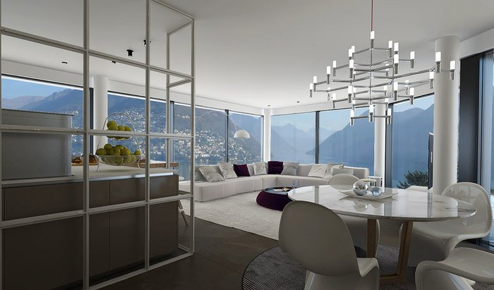Apartments and penthouses for sale in a new residence in Paradiso, Lugano - 16