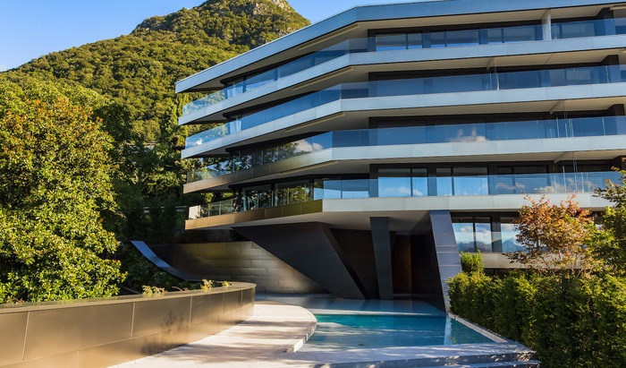 Apartments and penthouses for sale in a new residence in Paradiso, Lugano - 17