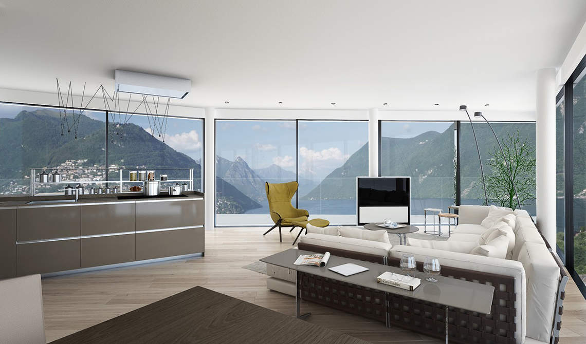 Apartments and penthouses for sale in a new residence in Paradiso, Lugano - 6