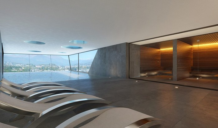 Apartments and penthouses for sale in a new residence in Paradiso, Lugano - 19
