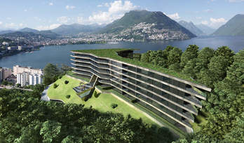Apartments and penthouses for sale in a new residence in Paradiso, Lugano