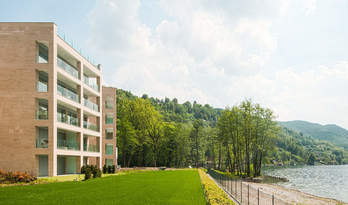 Apartments for sale in residence at lake in Lugano
